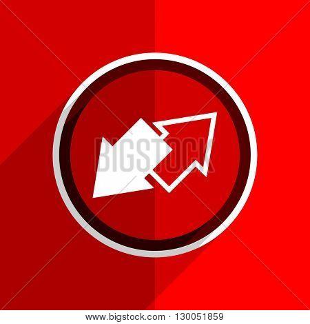red flat design exchange web modern icon
