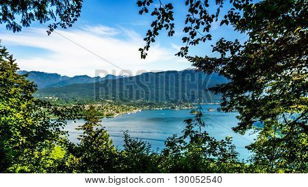 The Village of Deep Cove along the shore of Indian Arm, a fjord of Burard Inlet near Vancouver British Columbia