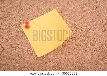 Yellow Blank Note Papers With Pin
