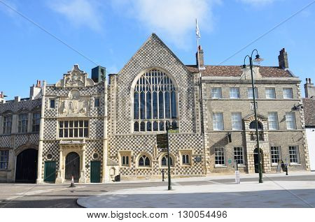 Front view of Kings Lynn Guildhall Norfolk