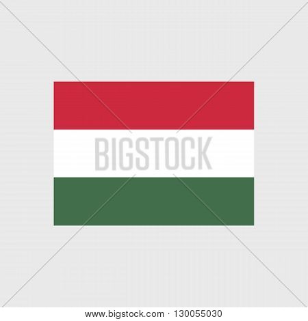 Set of vector icons with Hungary flag