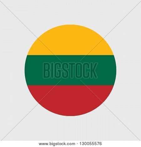 Set of vector icons with Lithuania flag