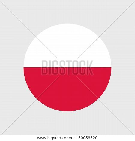 Set of vector icons with Poland flag