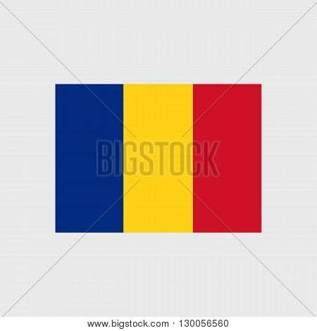Set of vector icons with Romania flag