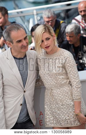 Olivier Assayas, Kristen Stewart  at the photocall for 'Personal Shopper' at the 69th Festival de Cannes. May 17, 2016  Cannes, France