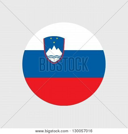 Set of vector icons with Slovenia flag