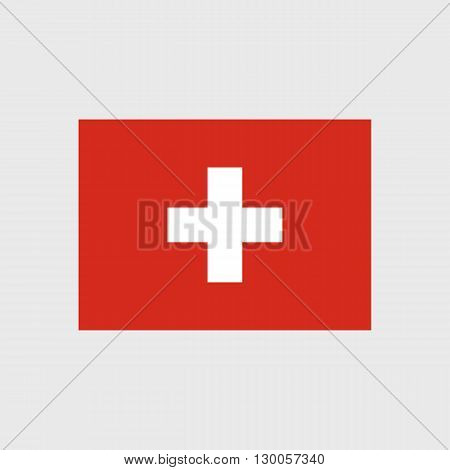 Set of vector icons with Switzerland flag