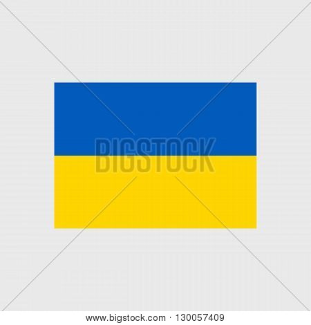 Set of vector icons with Ukraine flag