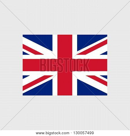 Set of vector icons with United Kingdom flag