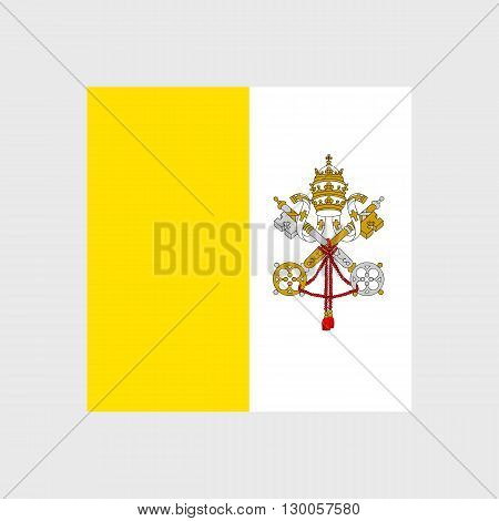 Set of vector icons with Vatican City flag