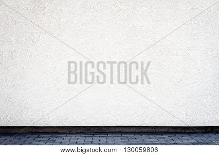 Modern white plaster street wall background for your projects