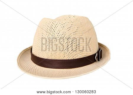 hat isolated on a white background, Hats Brown