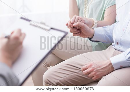 Couple With Relationship Difficulties Holding Hands