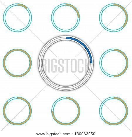 Round preloader animation frame, buffer shape, circular progress indicator