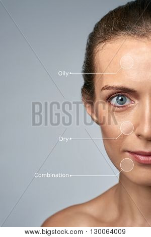 Close up portrait of woman in her 30s, fine wrinkles and aging