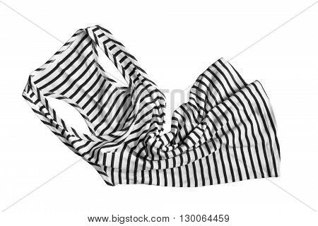 Black and white sailor tank top isolated over white