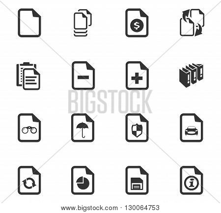 Documents icon set for web sites and user interface