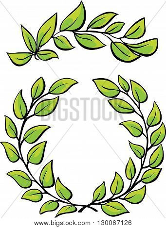 Laurel Wreaths Vectorisolated on white background - vector