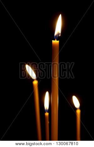 the a burning in the dark taper candles