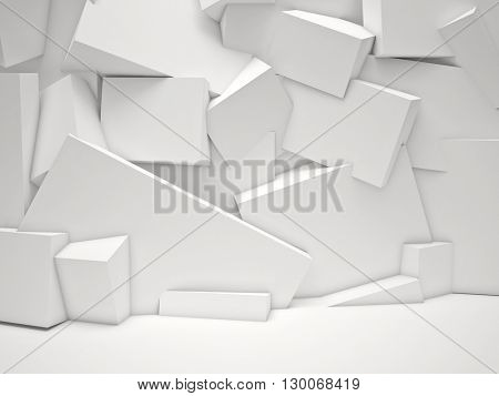 white cubes background 3d image