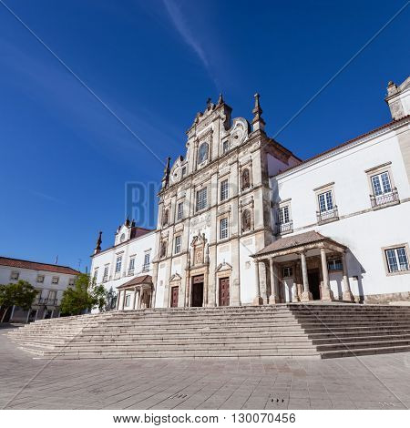 Santarem See Cathedral aka Nossa Senhora da Conceicao Church built in the 17th century Mannerist style. Portugal