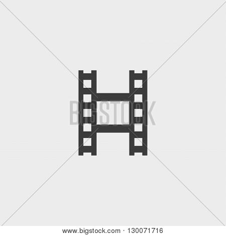 filmstrip iconfilm icon in black. Vector illustration