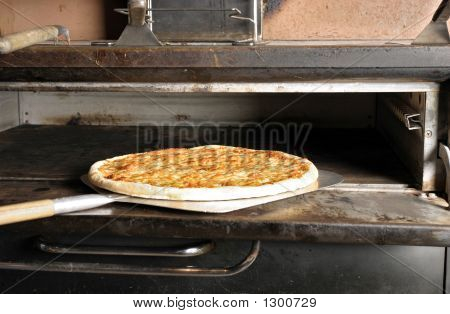 Cheese Pizza From The Oven