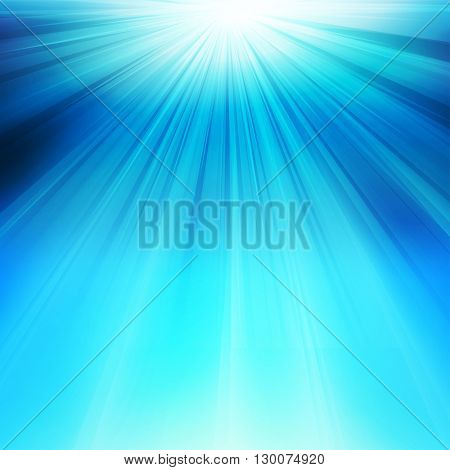 Abstract underwater background with sunlight easy all editable