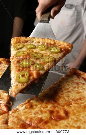Pepper Pizza Serving