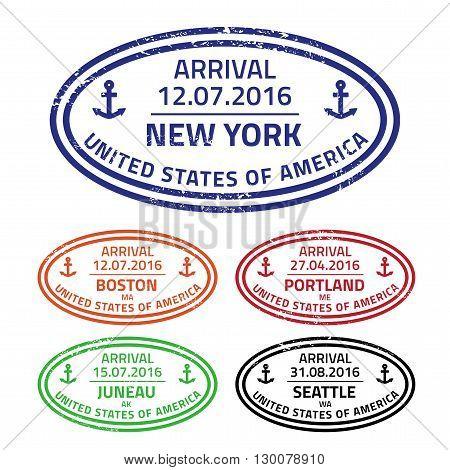 Travel Stamps Usa