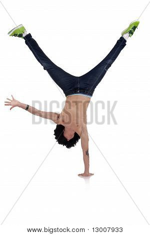 Stylish And Cool Breakdance Style Dancer