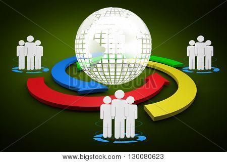 Digital diagram of people turnover