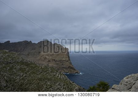 mediterranean, views of Cape formentor in the tourist region of Mallorca, located northeast of the island
