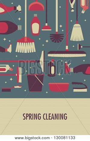 A vector illustration of poster for spring cleaning