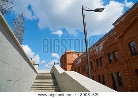 Up the stairs in Nizhniy Susalniy pereulok in Moscow