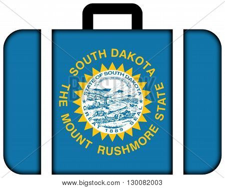 Flag Of South Dakota State. Suitcase Icon, Travel And Transportation Concept