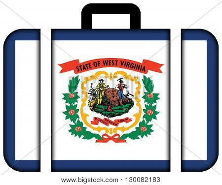 Flag Of West Virginia State. Suitcase Icon, Travel And Transportation Concept