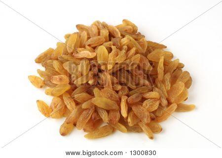 Small Group Of Golden Iranian Raisins