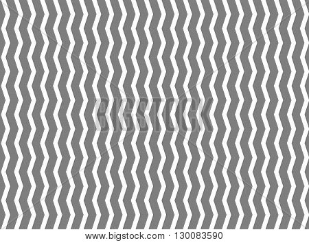 Seamless modern geometric pattern with a curved vertical line with the effect of an optical illusion. In two colors black and bright wight.