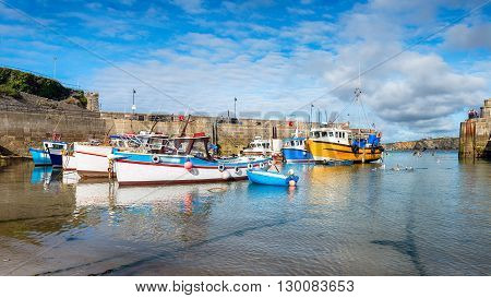 The Harbour At Newquay In Cornwall
