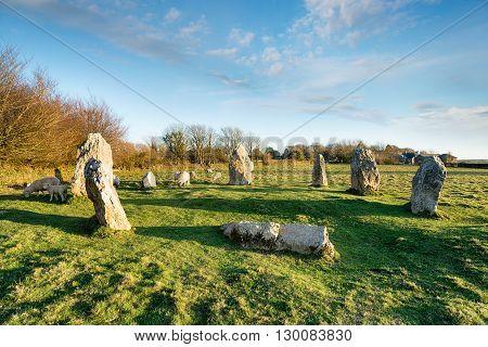 Duloe Stone Circle In Cornwall