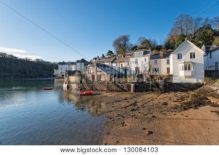 Cottages At Fowey In Cornwall
