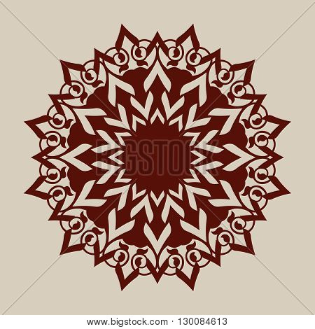 The template mandala pattern for decorative rosette. A picture suitable for printing engraving laser cutting paper wood metal stencil manufacturing. Vector. Easy to edit