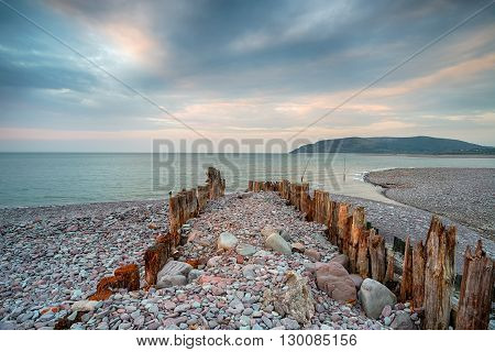 Storymy Sky Over Porlock Weir Beach