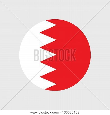 Set of vector icons with Bahrain flag