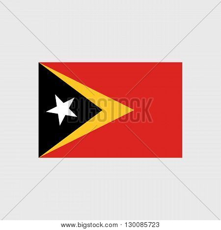 Set of vector icons with East Timor flag