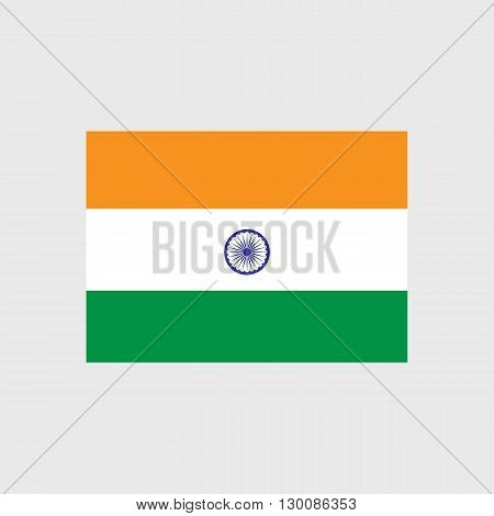 Set of vector icons with India flag