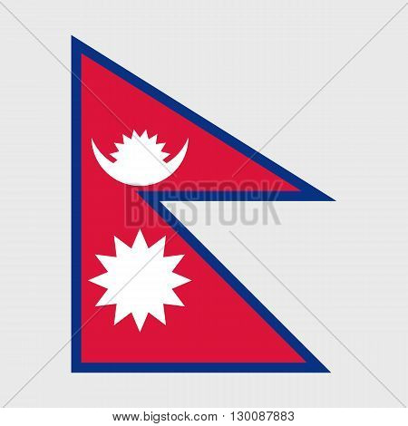 Set of vector icons with Nepal flag