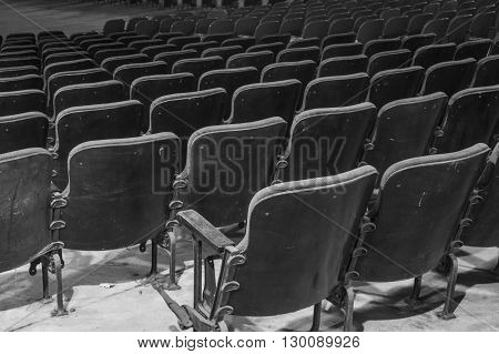 Black And White Vintage Theater Seats