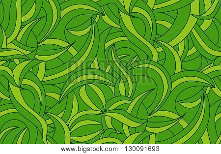 Seamless tropical jungle pattern background with liana leaves